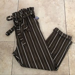 NB Olive Liverpool stripe pants